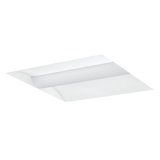 Mayer-LCAT architectural LED troffer with a curved center lens, 2x4, Color Temperature: 4000 K, Lumen Output Category: medium lumen, Light Output: 4886 lm, Wattage: 40 W, Mounting Type: grid lay-in, Driver type: 0-10V Dimming, Voltage Rating: 120-277 VAC.-1