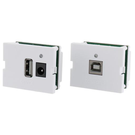Mayer-USB Connector, 2.0 TR/TX Kit, A/B, 110Terminals, 1.5-Unit, White-1