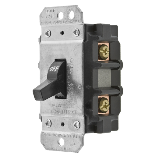 Mayer-Switches and Lighting Control, Motor Disconnect, 2-Pole, 30A 600V, Back and Side Wired-1