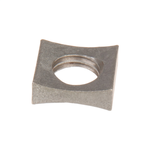"""Mayer-MF type curved lock nut for 1/2"""" diameter bolt, tapped 1/2-13-UNC. Hot dip galvanized per ASTM A-153. RUS listed, ek - Locknut.-1"""