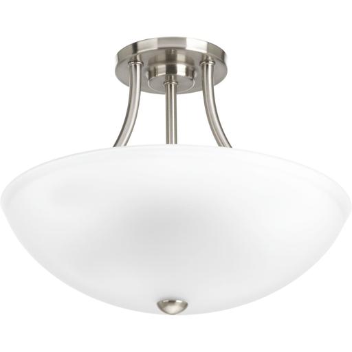 Mayer-Two-Light Brushed Nickel semi-flush mount or hanging ceiling light-1