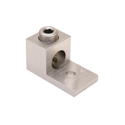 "Mayer-Aluminum Universal Terminal, 1 Hole, 6-2/0 AWG (Str), 1/4"" Stud, 1 Screw, Al/Cu Rated, Tin Plated-1"