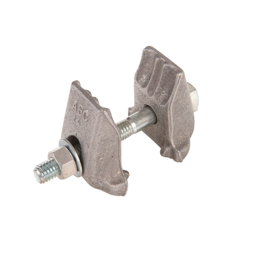 Mayer-Twineye® bonding clamps maintain a dependable mechanical and electrical pressure contact between guy strand and anchor rod, when the guy is part of the grounding system.-1