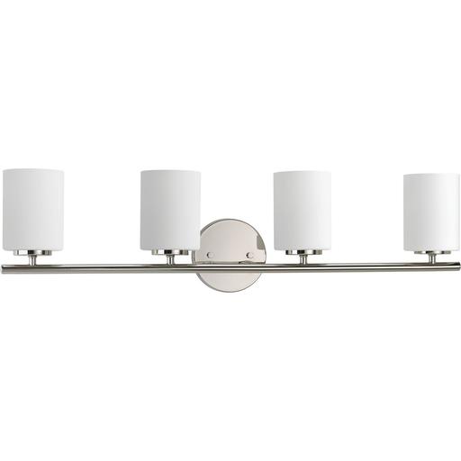Mayer-Four-Light Polished Nickel bath and vanity light-1