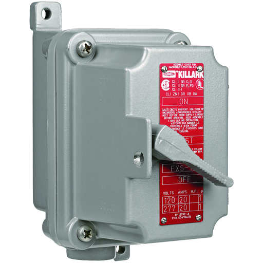XSD/XSX/FXSD/FXSX Series - FXSX Single Gang Aluminum Manual Motor Starting Switch - 3 Pole 3 Phase - Feed-Thru - Hub Size 3/4 In