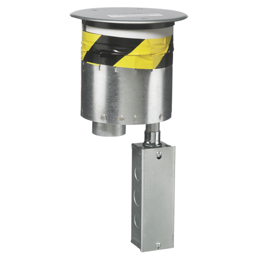 """Recessed 6"""" Series, Through Floor Fitting With (1) S1FRPT Hubbell Junction Box Only, No Sub Plates"""