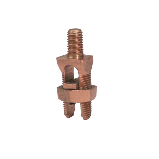 """Mayer-Mechanical Grounding Connector, Cable to Flat, 10-5 AWG (Str) / 10-4 AWG (Sol), 5/16"""" Stud-1"""