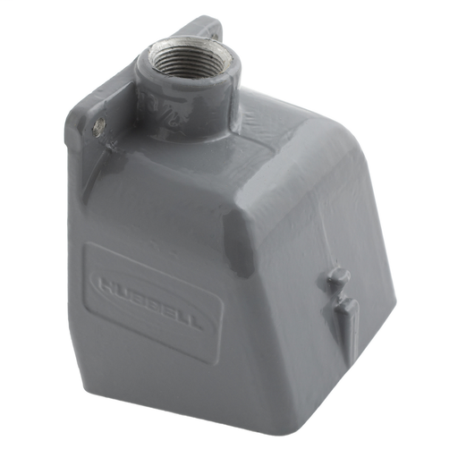 """Mayer-Heavy Duty Products, IEC Pin and Sleeve Devices, Industrial Grade, Accessory, Back Box, For 100A 1 1/2"""" NPT Hub, Angled, Mounting ScrewsIncluded, Gray Cast Aluminum-1"""
