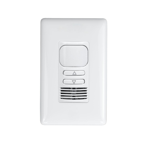 The LightHAWK® Dimming Dual Technology Wall Switch Sensor combines passive infrared (PIR) and ultrasonic (US) technologies with the additional energy savings of 0-10V dimming.