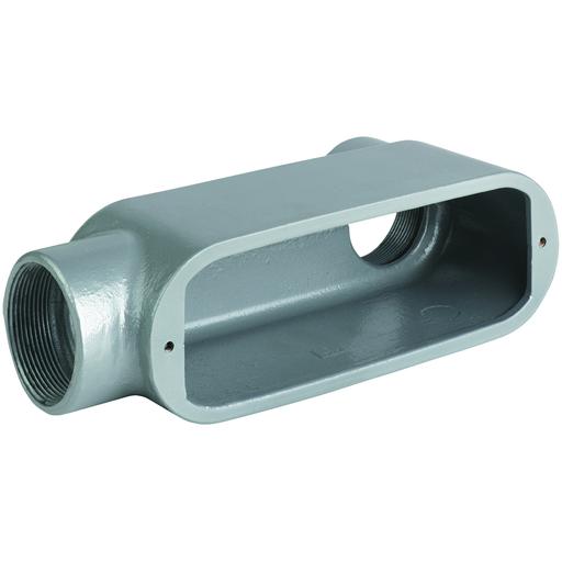 """3-1/2"""" LB Hub, Aluminum O Series Conduit Body"""