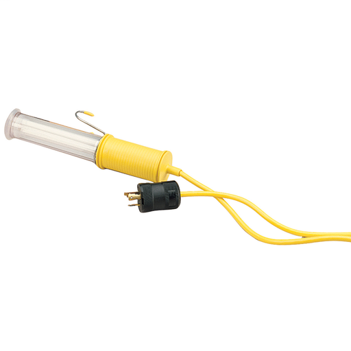 Temporary Power Products, Spider II Portable Power, Work Lights, Work Light and Cord, 15A 125V, Yellow, Straight Blade, 25'