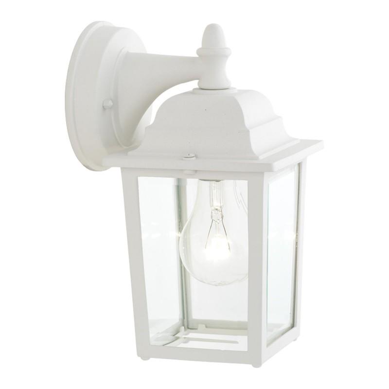 Hawthorne 1-light Outdoor Wall Lantern in Matte White finish