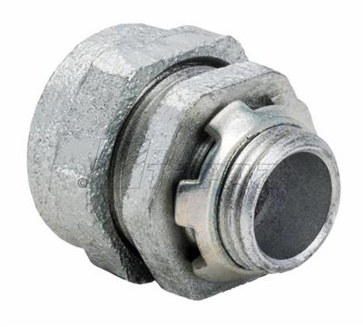 "Mayer-1-1/4"" Compression Type Malleable Iron Rigid Connectors-1"