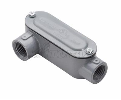 "Mayer-1/2"" Threaded LR Type Rigid Conduit Body with Cover & Gasket-1"