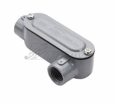 """Mayer-1"""" Threaded LL Type Rigid Conduit Body with Cover-1"""