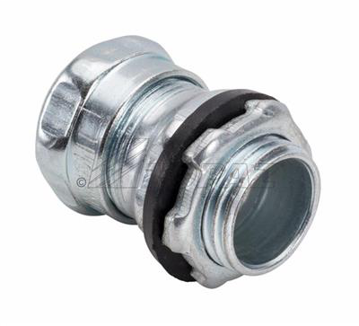 """Mayer-1/2"""" Steel Raintight Compression Type Connector-1"""