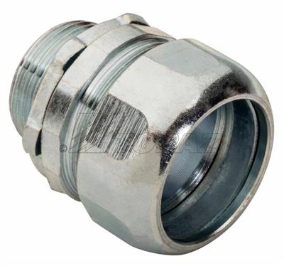 Topaz Corp 264 1-1/4 Inch Zinc Plated Steel Compression Type Rigid/IMC Connector