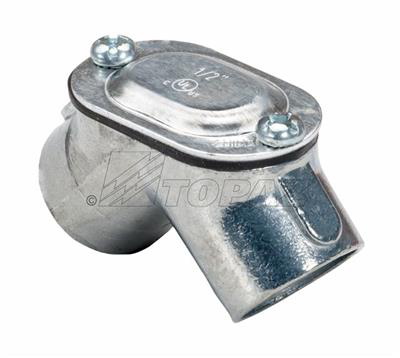 "Mayer-1/2"" Rigid To Rigid 90° Pull Elbows Zinc With Gasket-1"