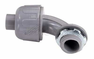"Mayer-1-1/4"" 90° Gray Nylon Liquidtight Connector-1"
