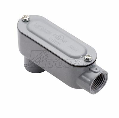 Topaz Corp LB10CG 4 Inch Powder Coated Die-Cast Aluminum Type LB Threaded Rigid Conduit Body with Cover and Gasket