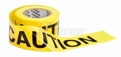 "TOPAZ FITTINGS 3"" x 1000' Yellow Non-Detectable Caution Tape"