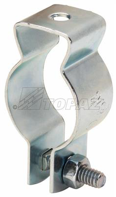 """TOPAZ FITTINGS 2-1/2"""" Conduit Hangers with Attached Bolt & Nut, Steel"""