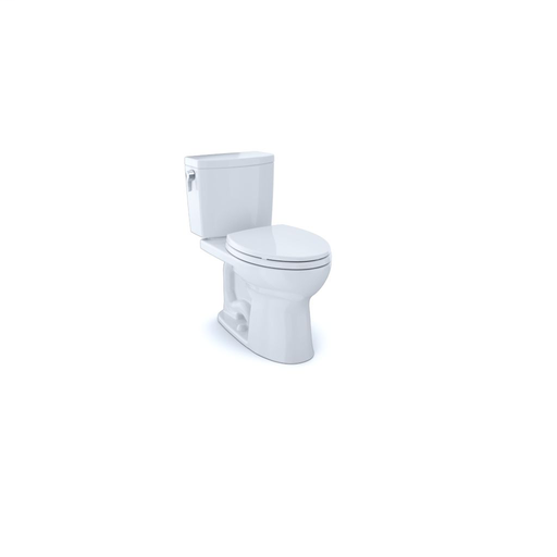 Drake® II 1G Two-Piece Toilet, Elongated Bowl, 1.0 GPF - Cotton - Trip Lever Position: Left hand Lever