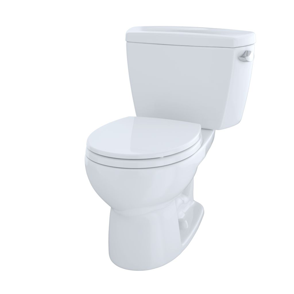 Drake® Two-Piece Toilet, 1.6 GPF, Round Bowl - Cotton - Trip Lever Position: Right Hand Lever