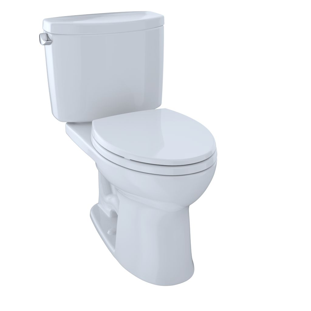 Drake® II Two-Piece Toilet, 1.28 GPF, Elongated Bowl - Cotton - Trip Lever Position: Left hand Lever