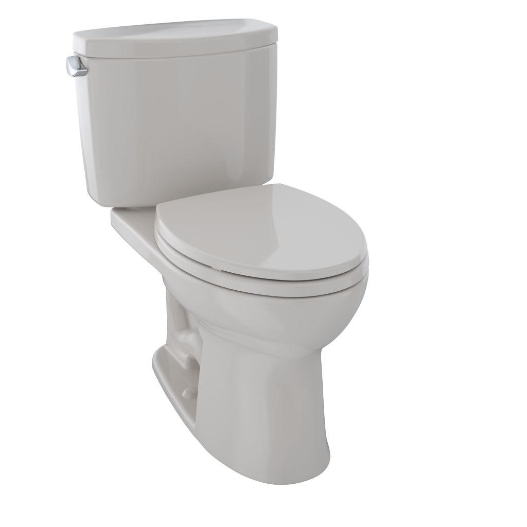 Drake® II Two-Piece Toilet, 1.28 GPF, Elongated Bowl - Sedona Beige - Trip Lever Position: Left hand Lever