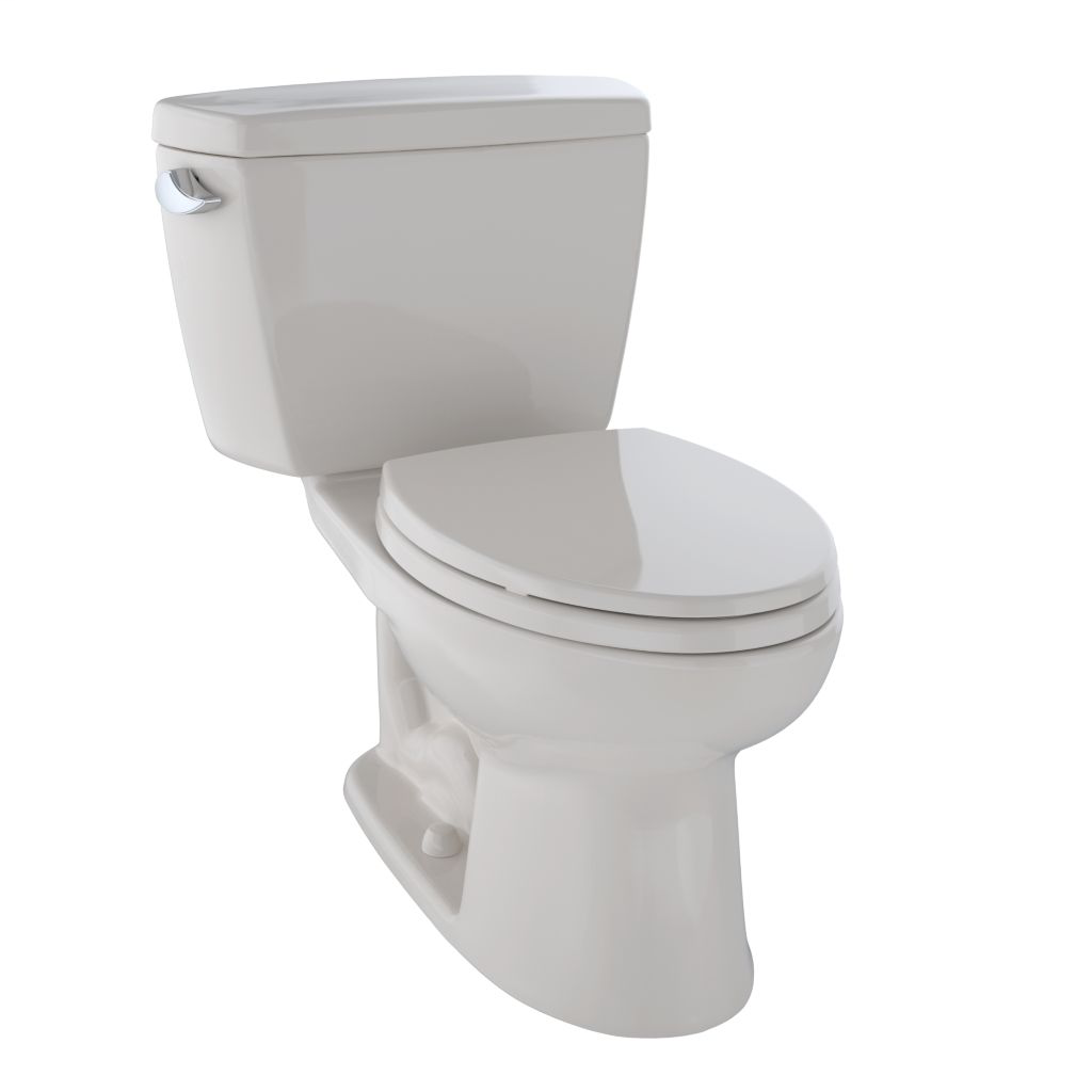 Drake® Two-Piece Toilet, 1.6 GPF, Elongated Bowl - Sedona Beige - Trip Lever Position: Left hand Lever