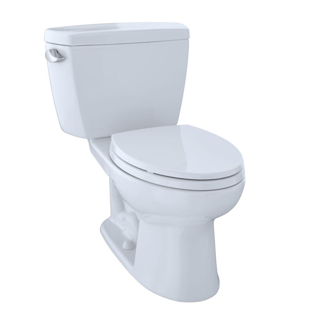 Drake® Two-Piece Toilet, 1.6 GPF, Elongated Bowl - CEFIONTECT - Cotton - Trip Lever Position: Left hand Lever