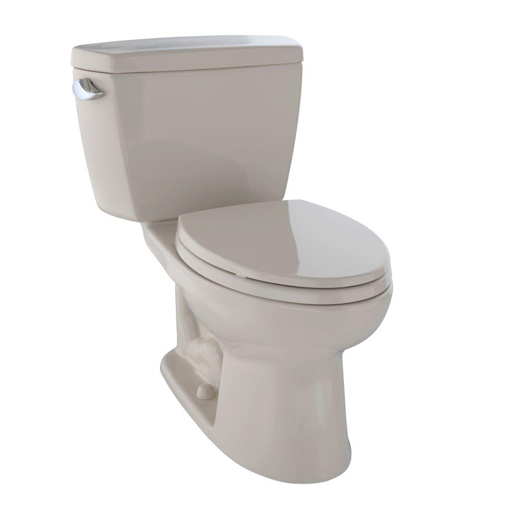 Drake® Two-Piece Toilet, 1.6 GPF, Elongated Bowl - Bone - Trip Lever Position: Left hand Lever
