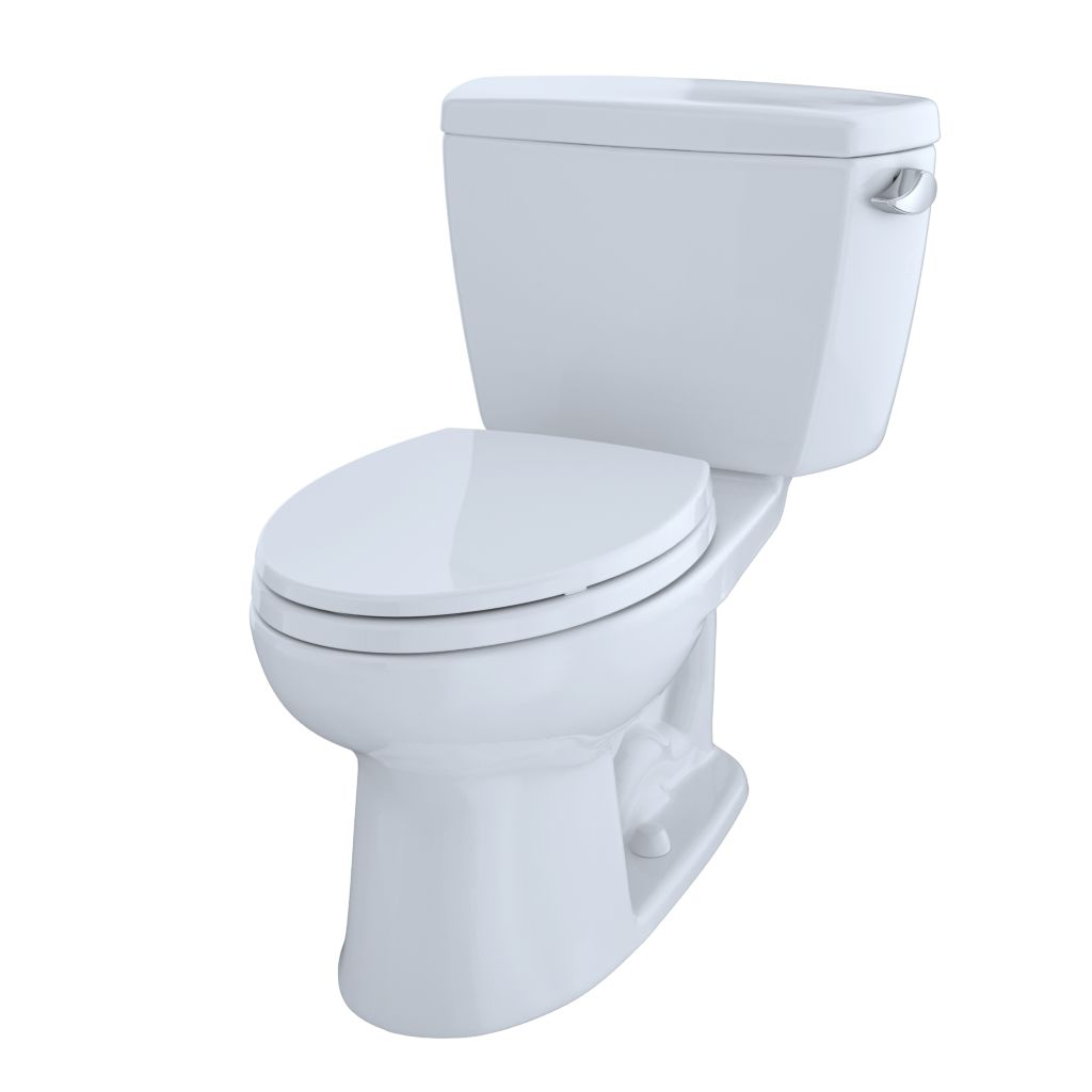 Drake® Two-Piece Toilet, 1.6 GPF, ADA Compliant, Elongated Bowl - Cotton - Trip Lever Position: Right Hand Lever