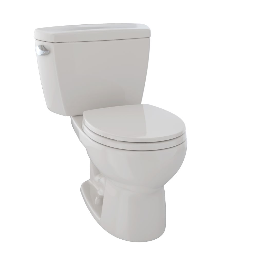Drake® Two-Piece Toilet, 1.6 GPF, Round Bowl - Sedona Beige - Trip Lever Position: Left hand Lever