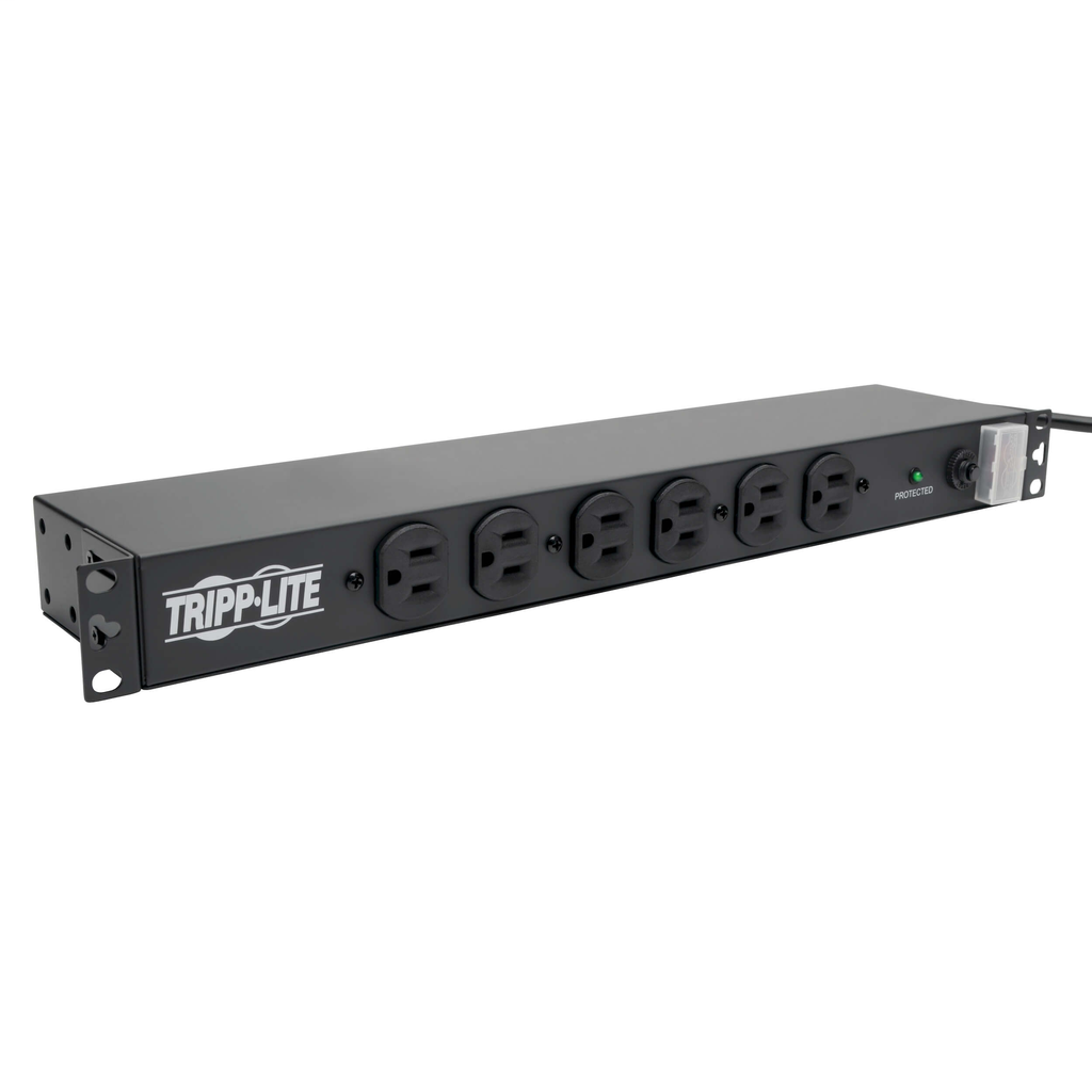 TRP 14-Outlet Economy Network Server Surge Protector, 1U Rack-Mount, 15-ft. Cord, 3000 Joules