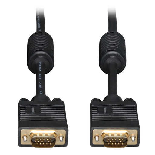 VGA High-Resolution RGB Coaxial Cable (HD15 M/M)), 10 ft.