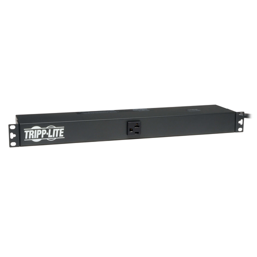 2.4kW Single-Phase 120V Basic PDU, 13 NEMA 5-15/20R Outlets, NEMA 5-20P Input, 15 ft. Cord, 1U Rack-Mount