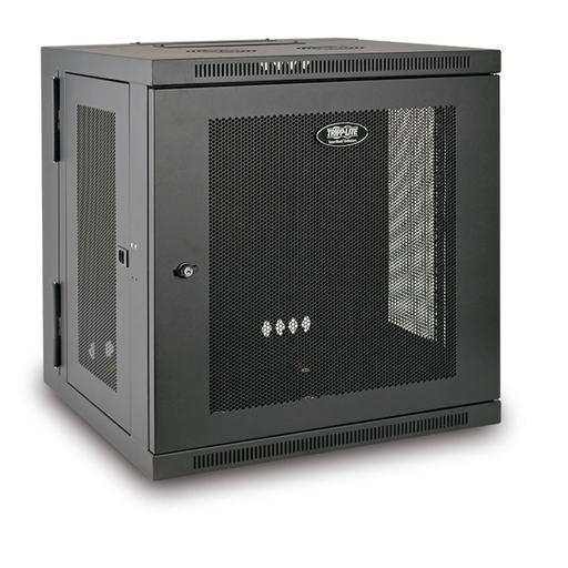 SmartRack 12U Low-Profile Switch-Depth Wall-Mount Rack Enclosure Cabinet, Hinged Back