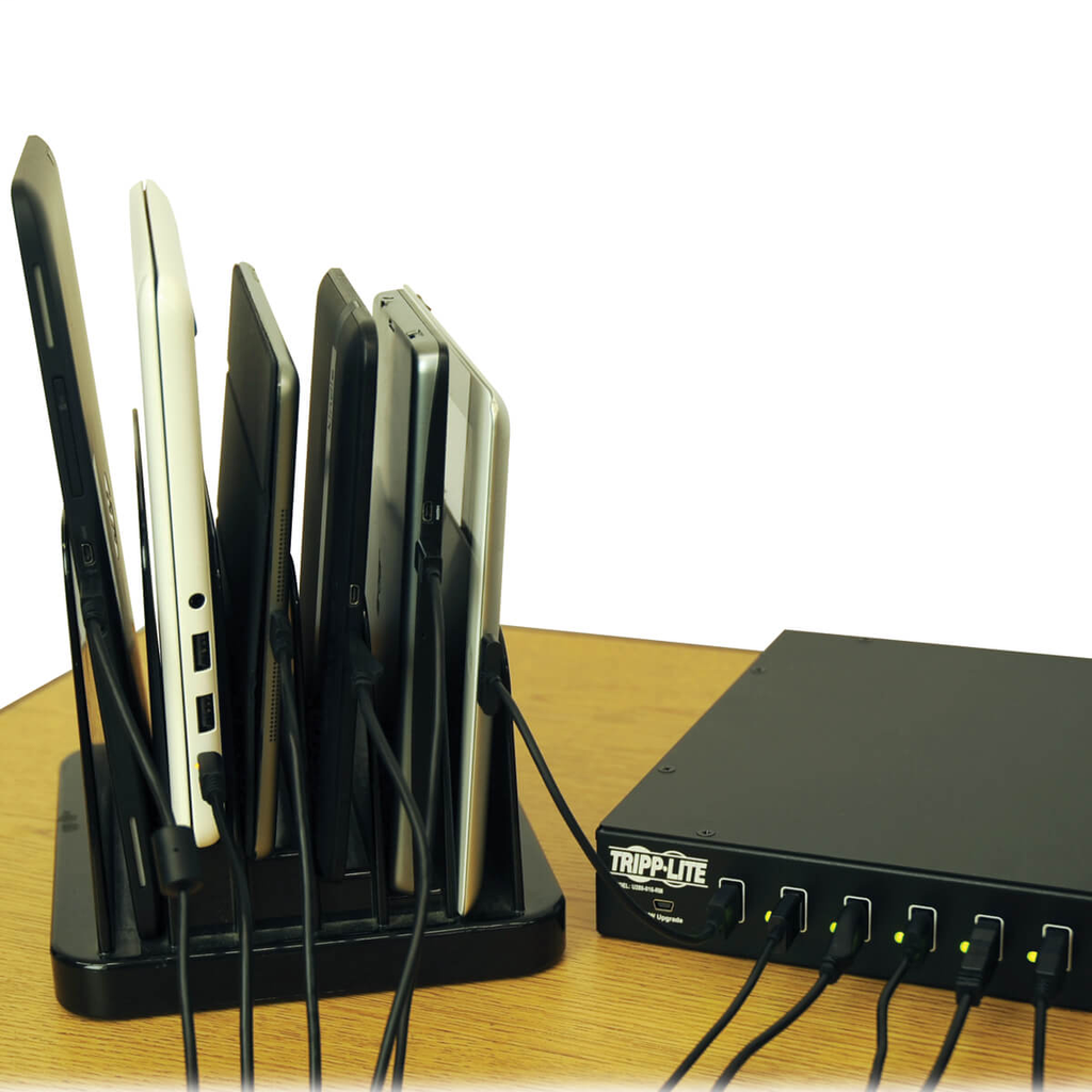 16-Port USB Charging Station with Syncing Function - 5V 40A / 200W USB Charger Output, TAA