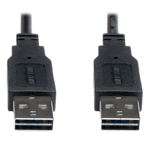 Universal Reversible USB 2.0 Cable (Reversible A to Reversible A M/M), 3 ft.