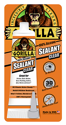 GOR 8090002 GORILLA CLEAR SILICONE SEALANT INDOOR/OUTDOOR