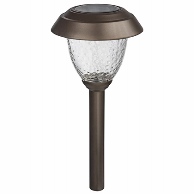 TRU GL40248 FS 4PK 8L BRN SOLAR PATH LIGHTS BRONZE LED FOUR SEASONS COURTYARD