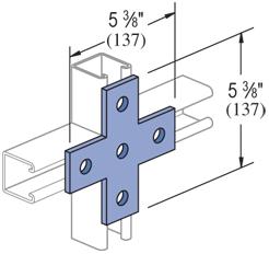 Mayer-5 Hole, Flat Plate Fitting Electro-Galvanized (EG) (20/CTN)-1