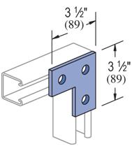 Mayer-3 Hole, Flat Plate Fitting Electro-Galvanized (EG) (50/CTN)-1