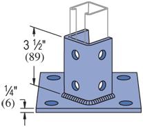 "Mayer-Post Base SQ (1-5/8"" Series) Electro-Galvanized (EG) (10/CTN)-1"
