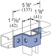 """UNISTRUT 5 Hole, """"U"""" Shape Fitting Electro-Galvanized (EG) (25/CTN)"""