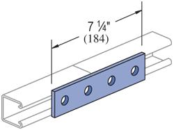 4 Hole, Flat Plate Fitting Electro-Galvanized (EG) (25/CTN)