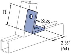 "Mayer-Inside Angle Fitting 45° (1-5/8"" Series) Electro-Galvanized (EG) (25/CTN)-1"