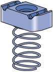 "UNISTRUT Channel Spring Nut (1-5/8"" Series) Channels, 1/2""-13, Stainless Steel (SS) (100/CTN)"
